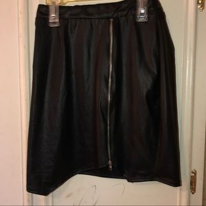 Dresses & Skirts - Faux leather zip Skirt